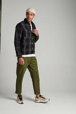 Aklion Wool Check Overshirt
