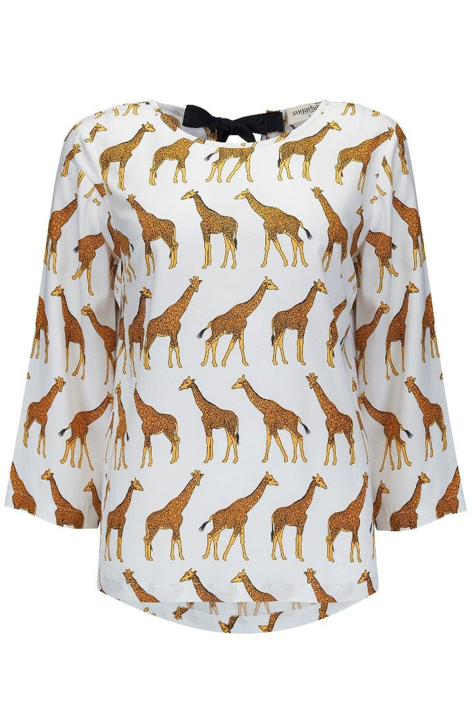 Maya Having a Giraffe Top