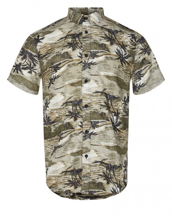 EDGE PALM TREE PRINT SHIRT