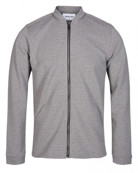 NOAK ZIP SWEAT STEEL