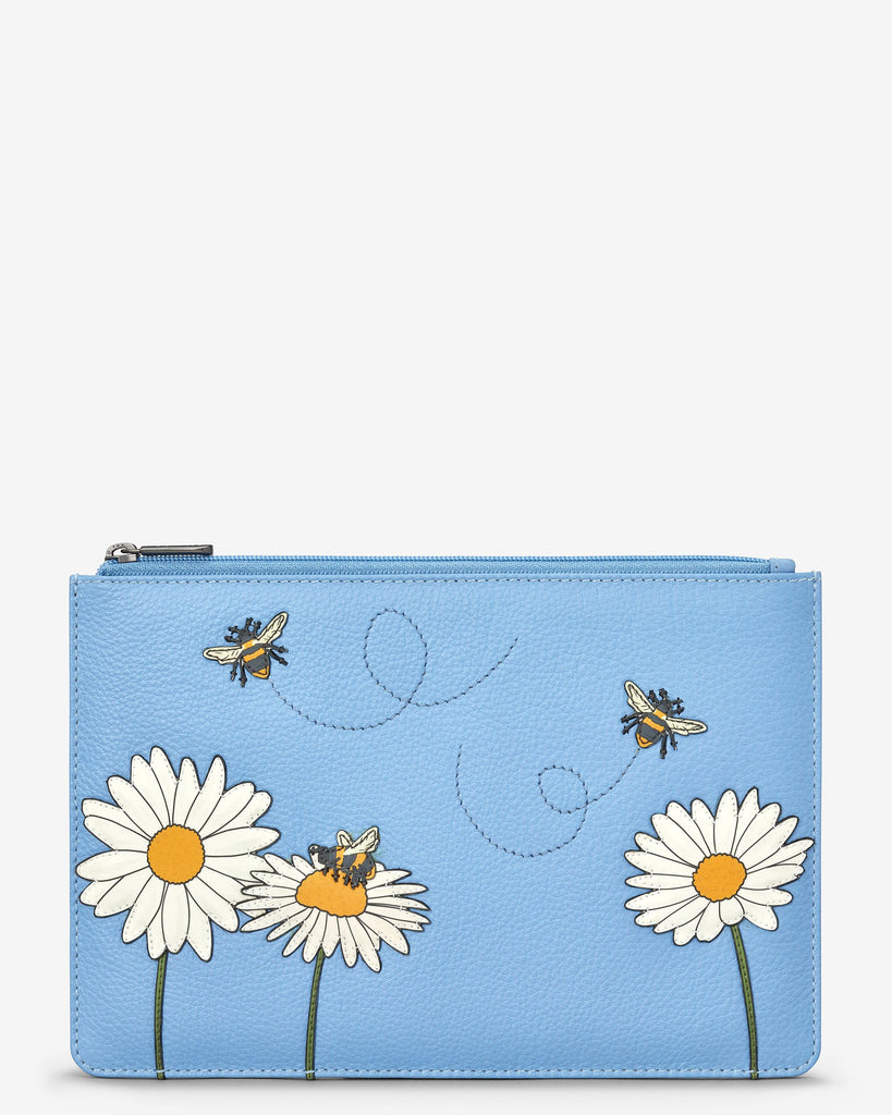 Bee Happy Zip Top Pouch