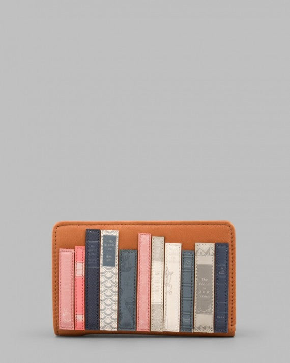 BOOKWORM TAN ZIP AROUND PURSE