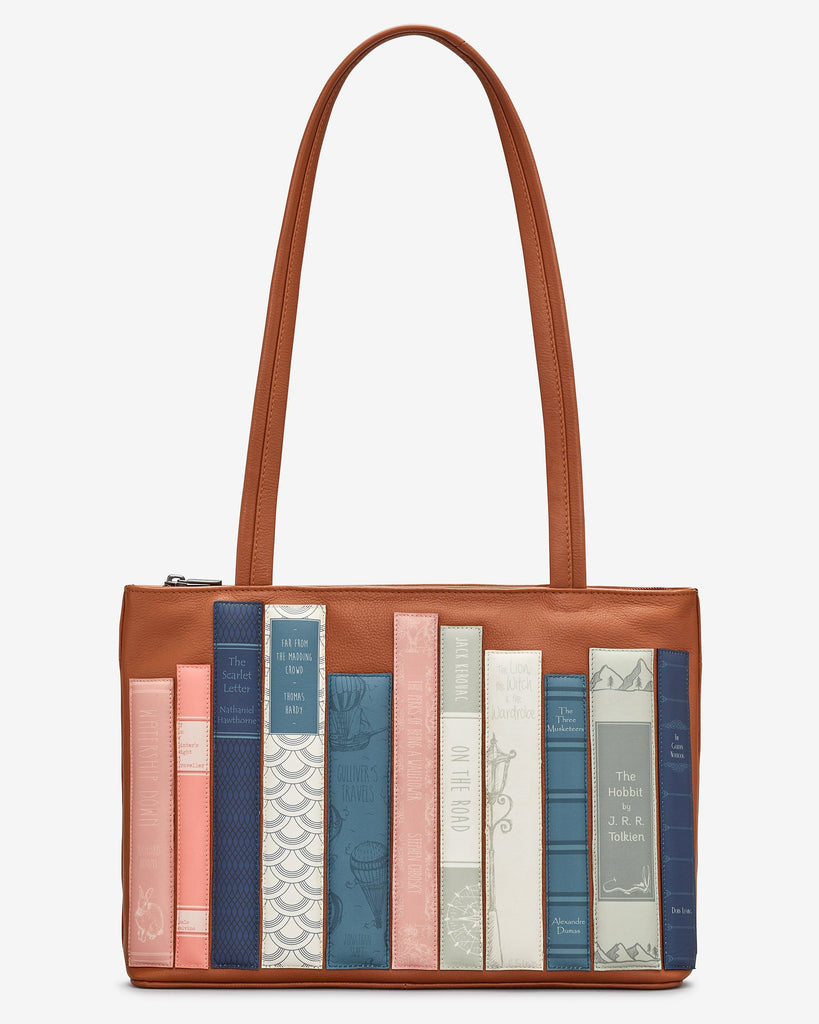 BOOKWORM TAN SHOULDER BAG