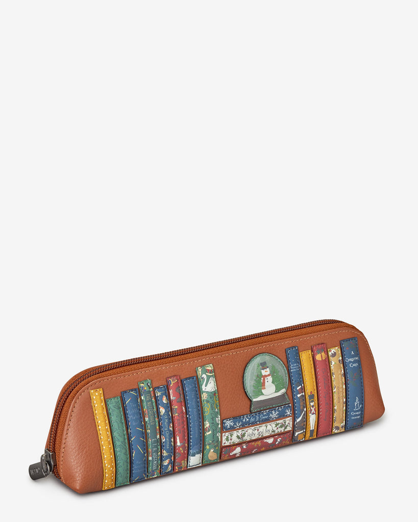 Xmas Bookwork Pencil Case