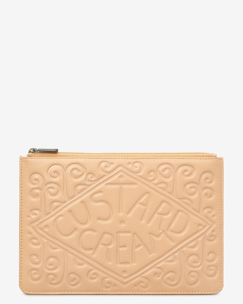 Custard Cream Zip Top Pouch