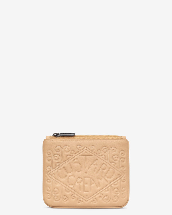 Custard Cream Zip Top Purse