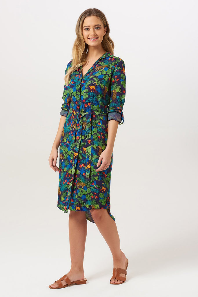 Reva Jungle Shirt Dress