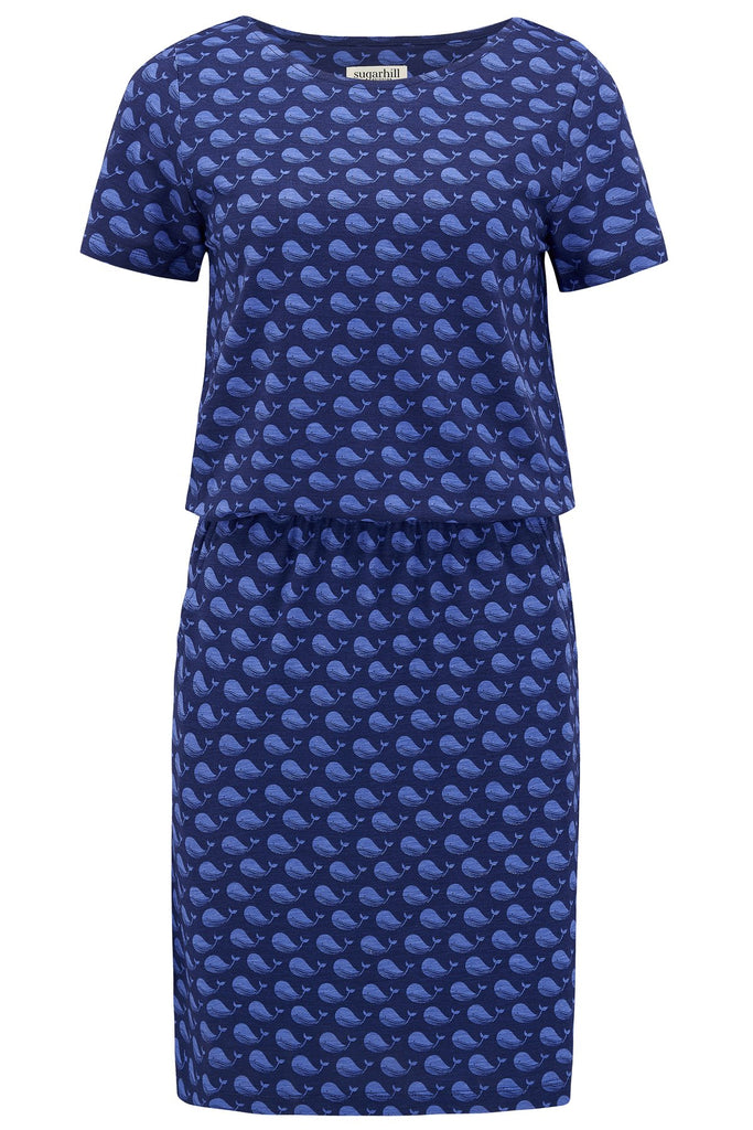 Terri Whale Song Jersey Dress
