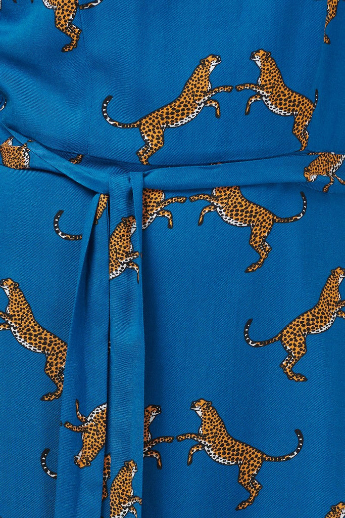 Ohara Dancing Cheetahs Fit & Flare Dress