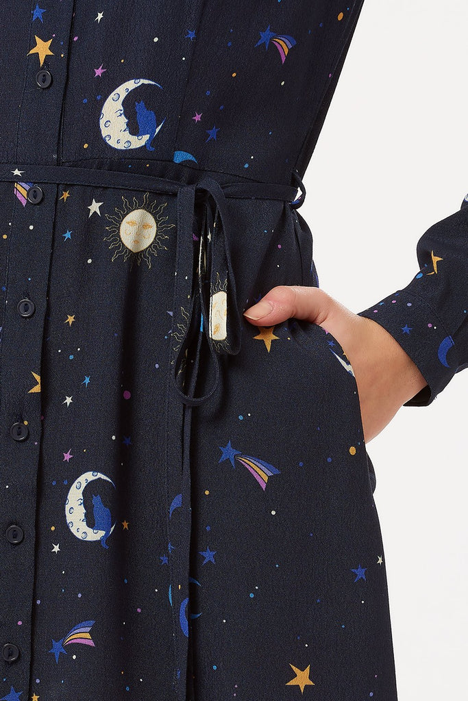 Zadie Astrological Nights Shirt Dress