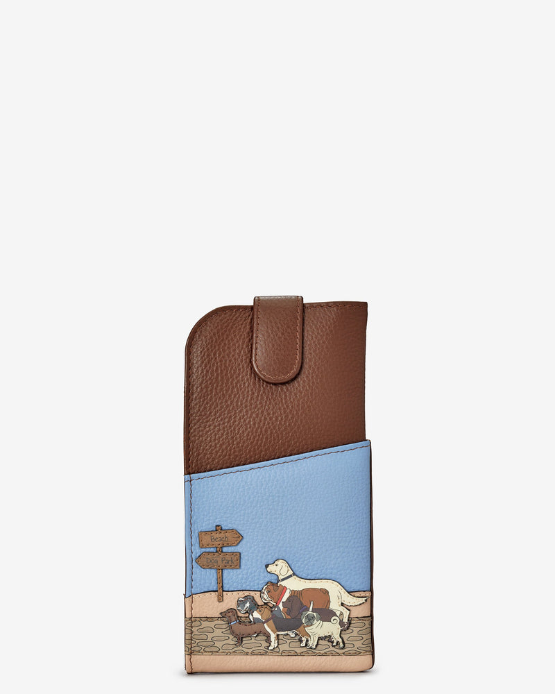 Dog Walk Glasses Case