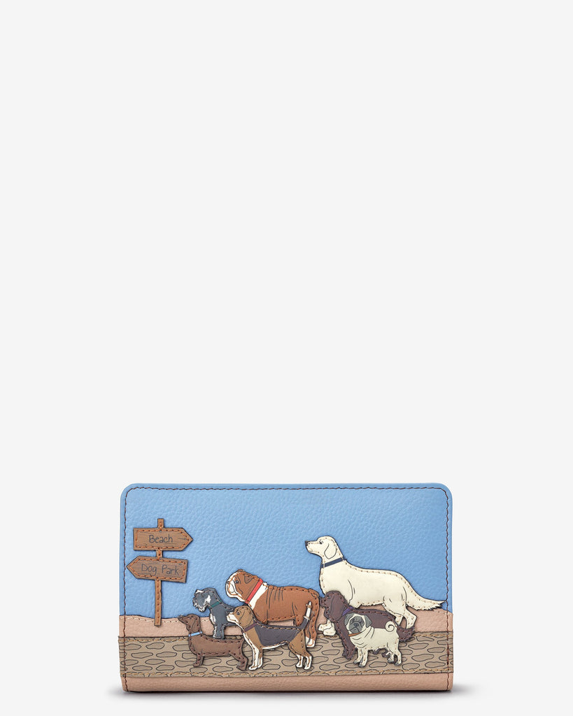 Dog Walk Zip Around Purse