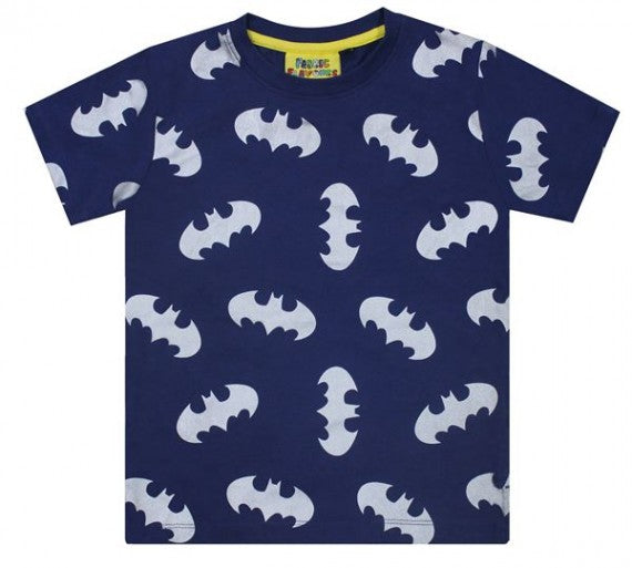 KIDS BATMAN REPEAT PRINT TEE NAVY