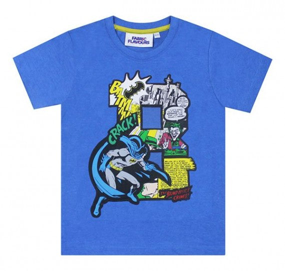 BATMAN B APPLIQUE TEE BLUE