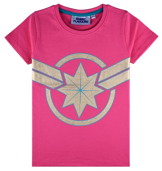 Captain Marvel Gold Floil Lobo T-Shirt