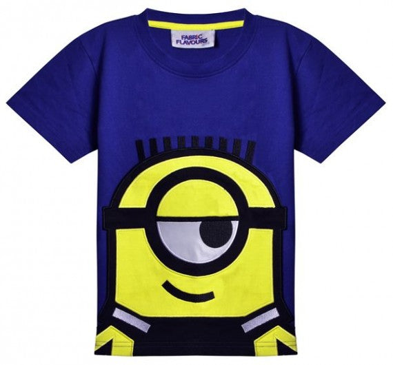 MINIONS APPLIQUE ROYAL BLUE