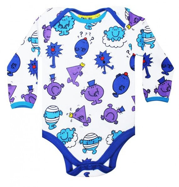 MR MEN REPEAT PRINT BABYGROW BLUE