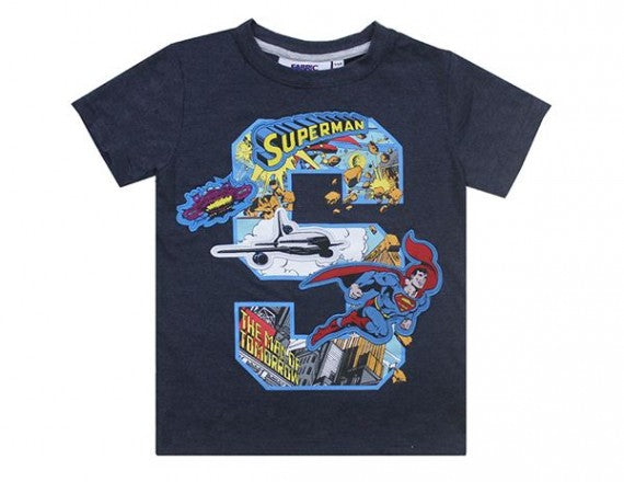SUPERMAN S APPLIQUE TEE NAVY