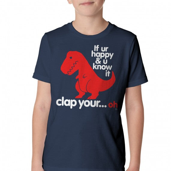 YOUTH SAD T-REX T SHIRT NAVY