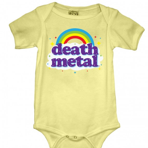 KIDS DEATH METAL ONESIE BUTTER