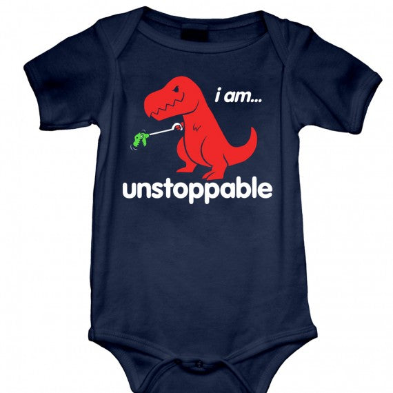 BABY UNSTOPPABLE ONESIE NAVY