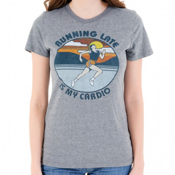 WOMENS RUNNING CARDIO T SHIRT GREY