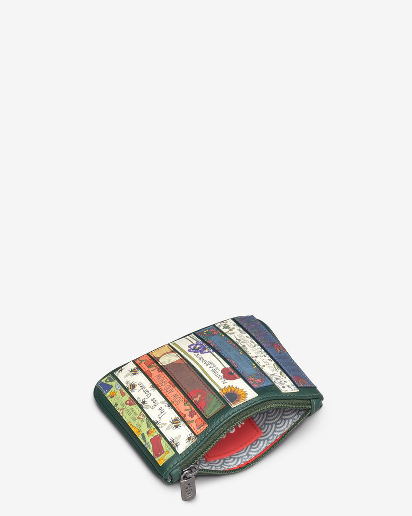 Green Fingers Bookworm Zip Top Purse