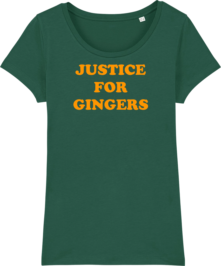 Womens Justice For Gingers Organic T-Shirt