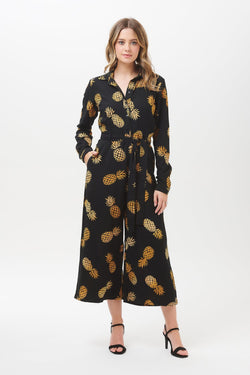 Sienna Pineapple Batik Wide Leg Jumpsuit