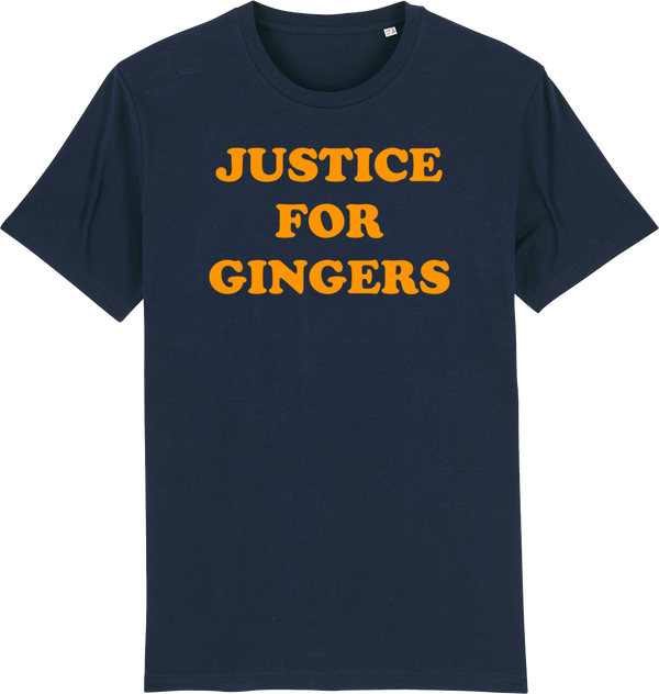 Mens Justice For Gingers Organic T-Shirt