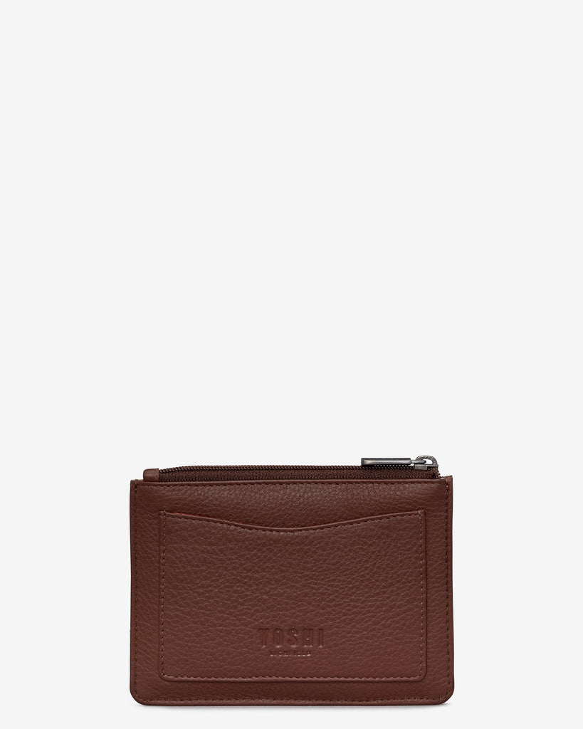 Brown Puffin Zip top Purse