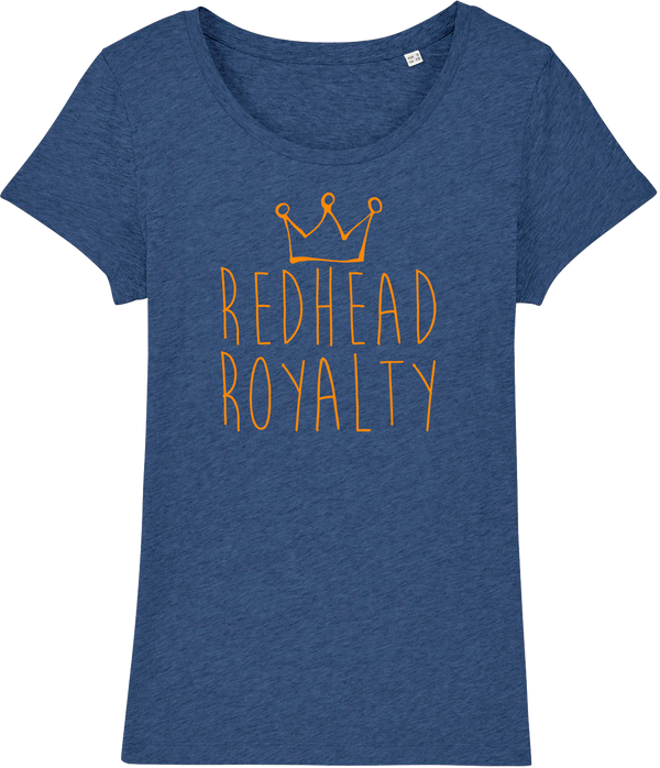 Womens Redhead Royalty Organic T-Shirt