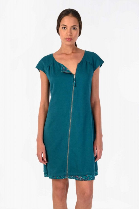 AIARA DRESS DEEP GREEN