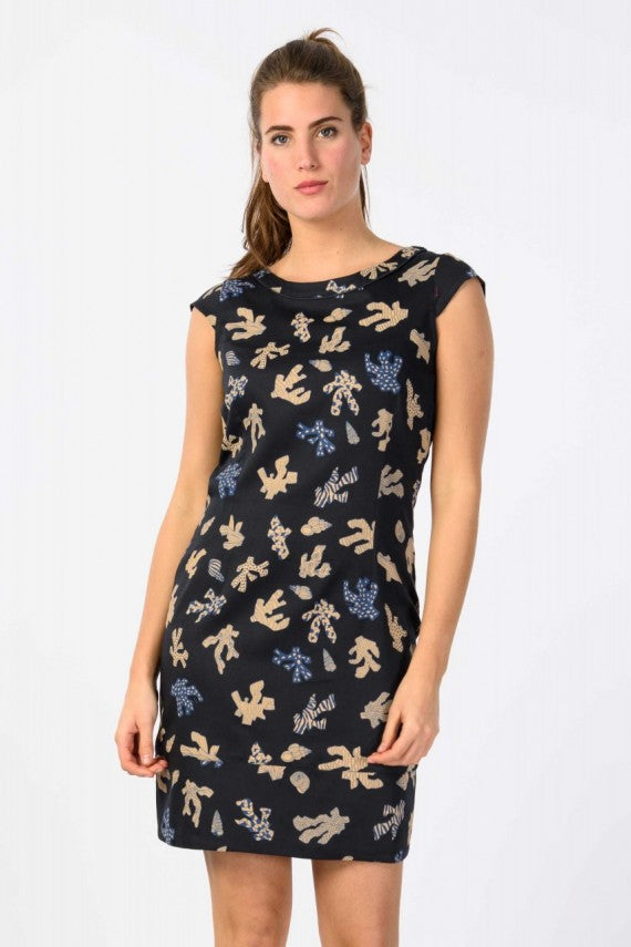 ETXAIDE DRESS DARK NAVY