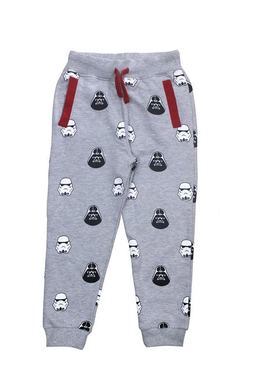 KIDS DARTH & STORMTROOPER SWEATPANTS GREY
