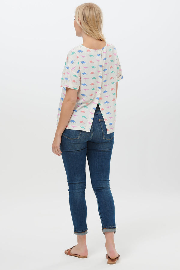 Aluna Jurassic Jive Button Back Top