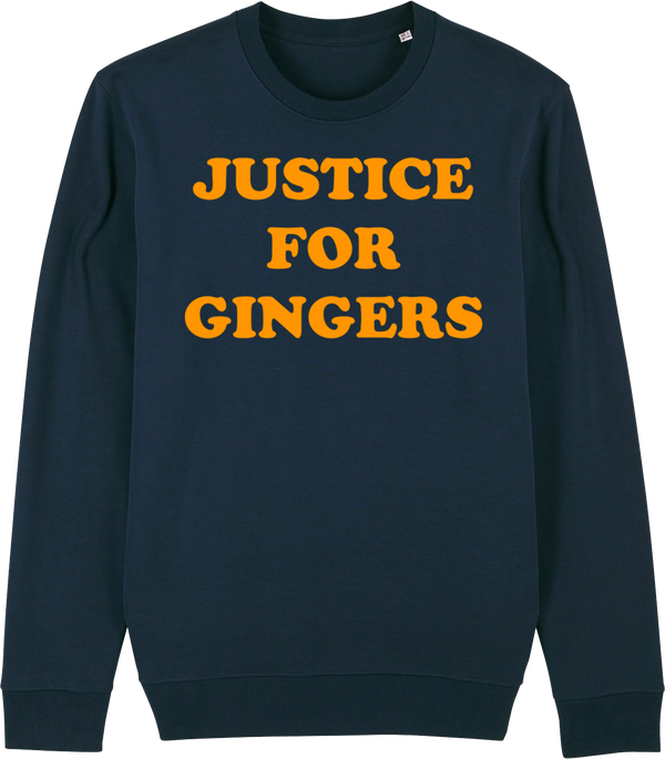 Unisex Justice For Gingers Organic Sweat