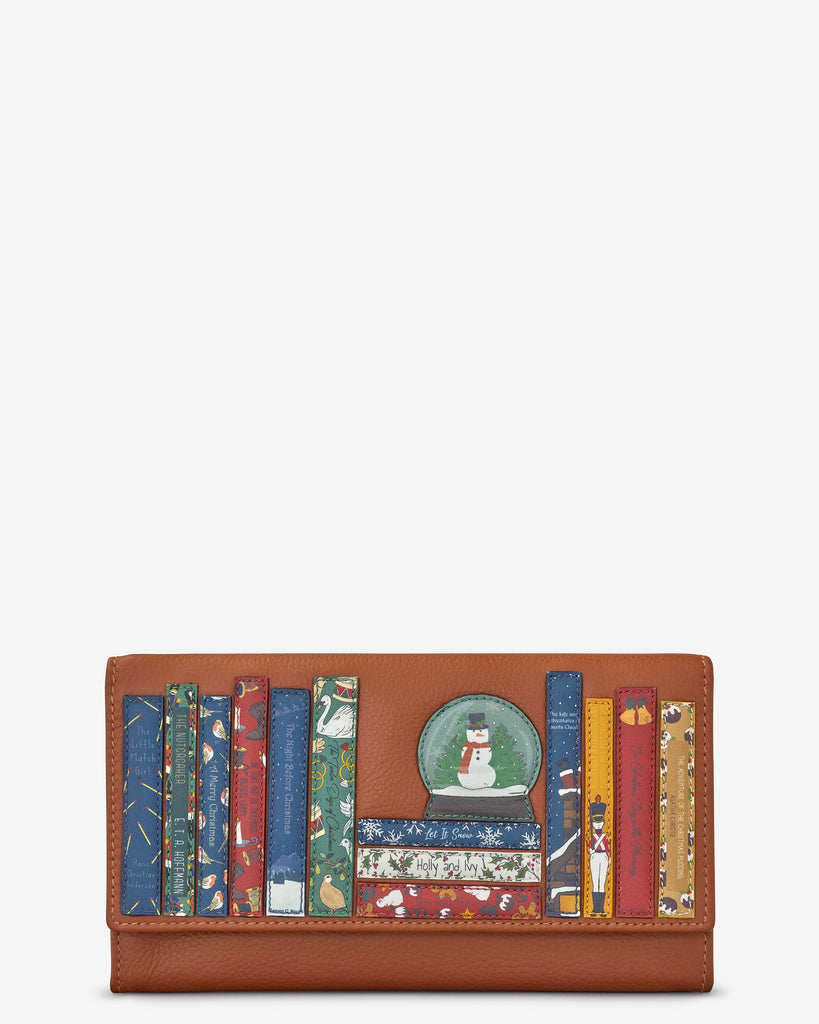Xmas bookworm Flap Over Purse
