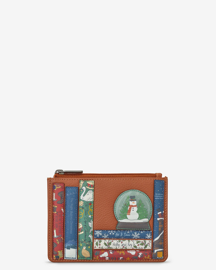 Xmas Bookworm Zip Top Purse