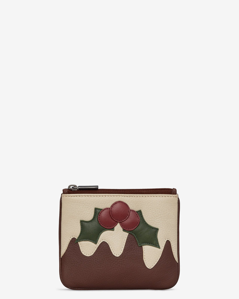 Xmas Pud Zip Top Purse
