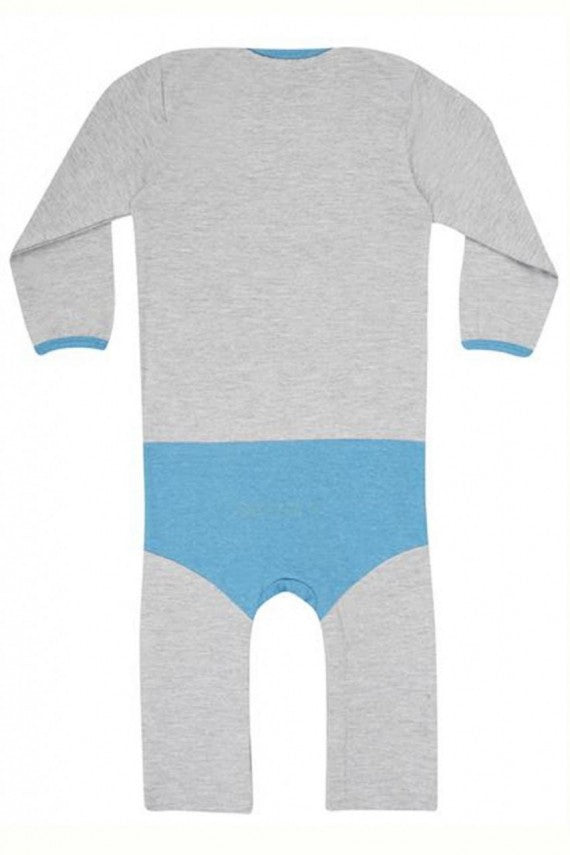 BATMAN SUPERSUIT GREY/BLUE by Fabric Flavours