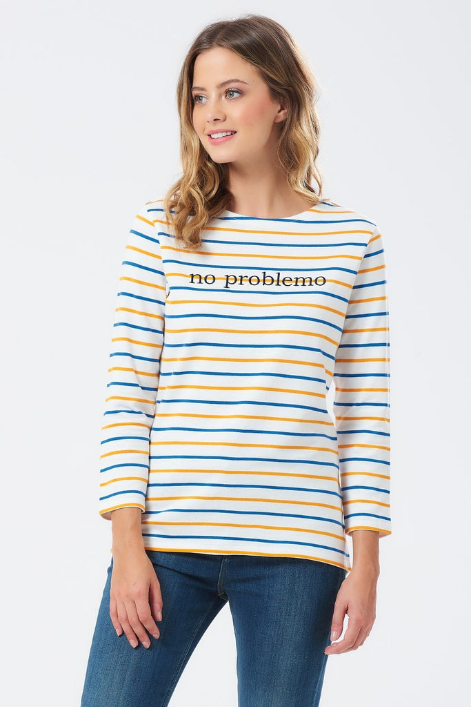 No Problemo Stripe Top