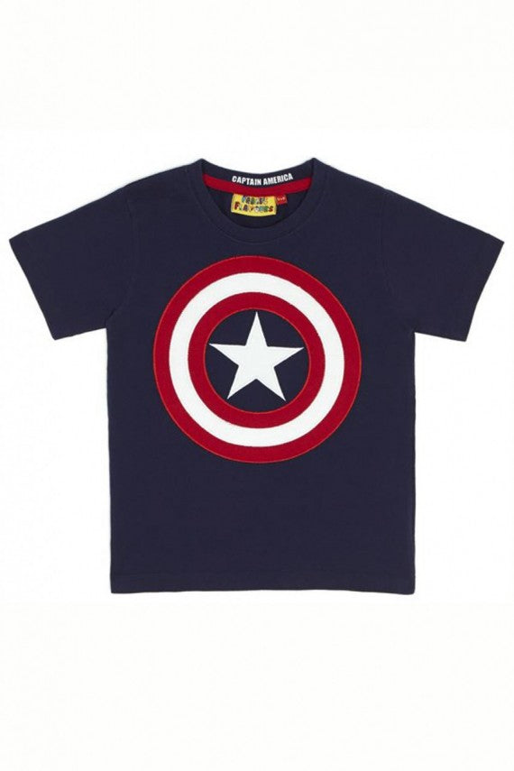 KIDS CAPTAIN AMERICA SHIELD NAVY