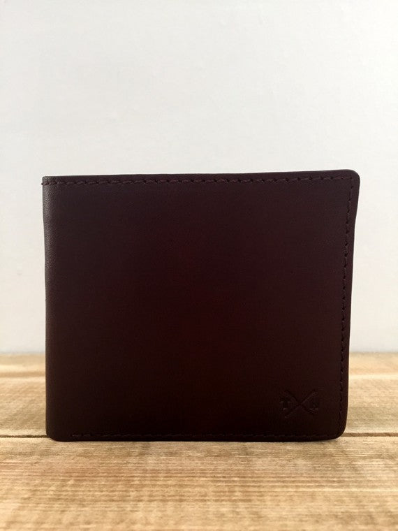 BROWN TUDOR LEATHER COIN POCKET WALLET BROWN