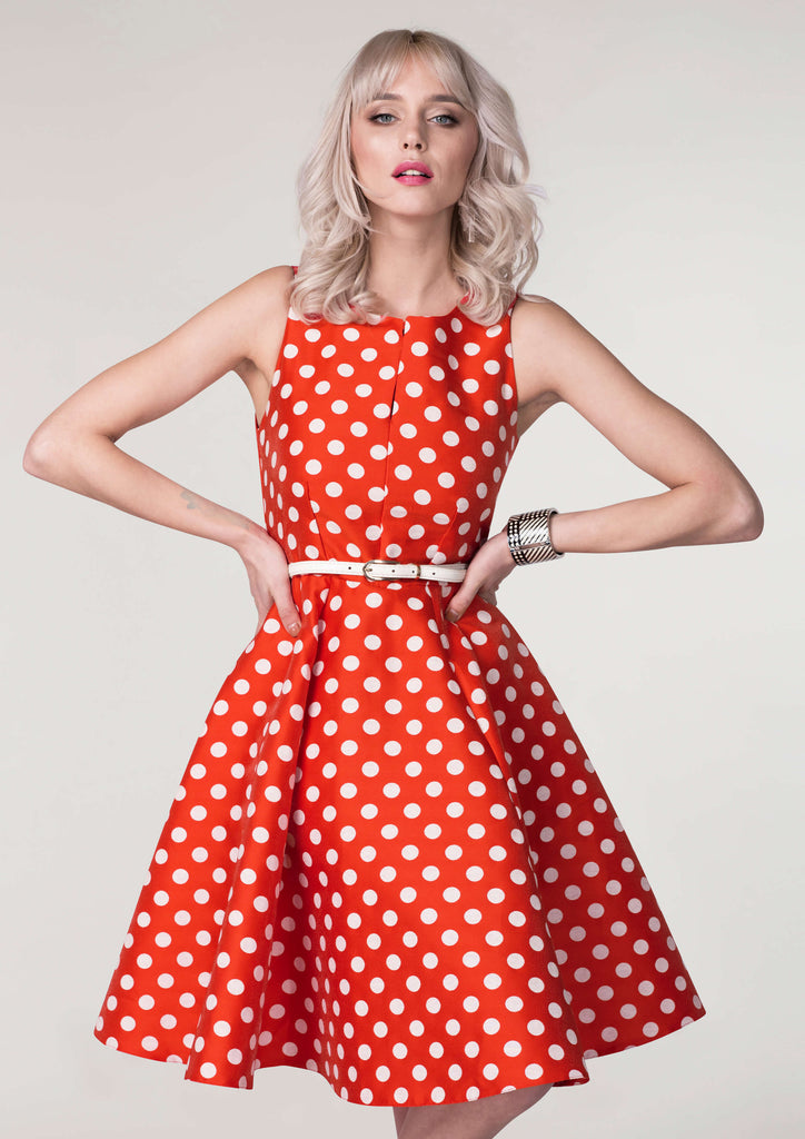 POLKA DOT PANEL DRESS