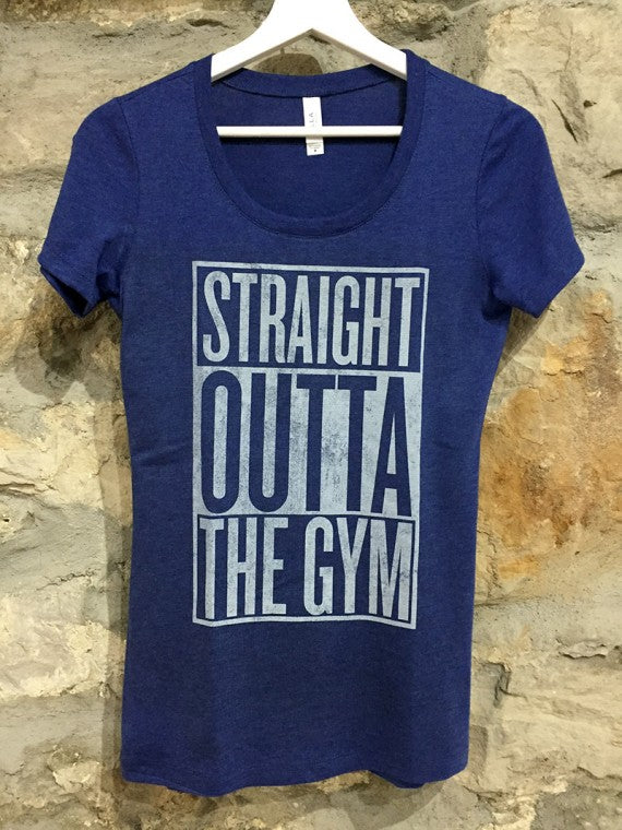 LADIES GYM T-SHIRT NAVY