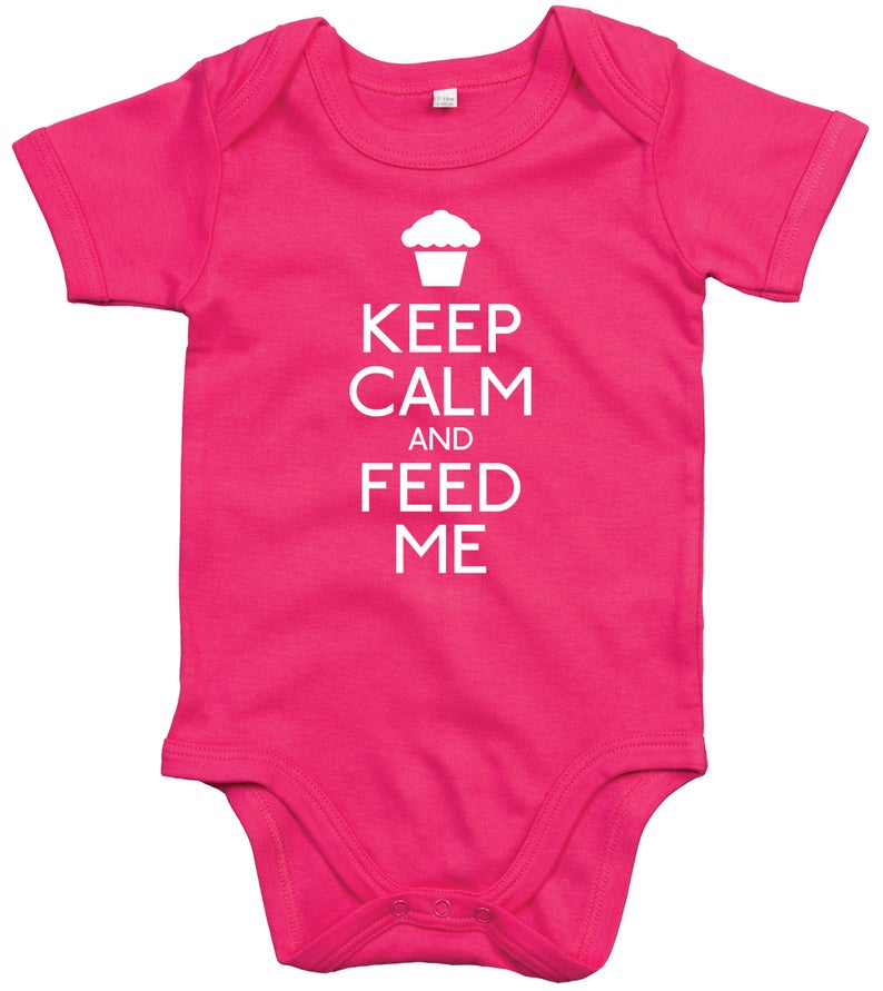 Keep Calm & Feed Me Babygrow
