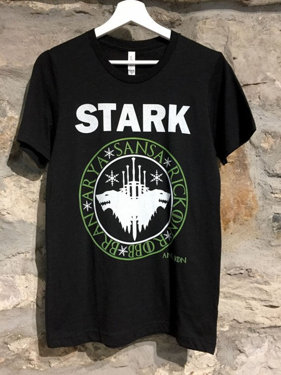 MENS STARKS T-SHIRT HEATHER BLACK