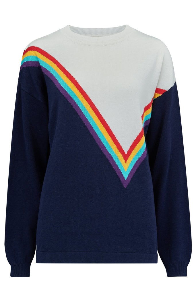 Maria Rainbow Colour Block Sweater