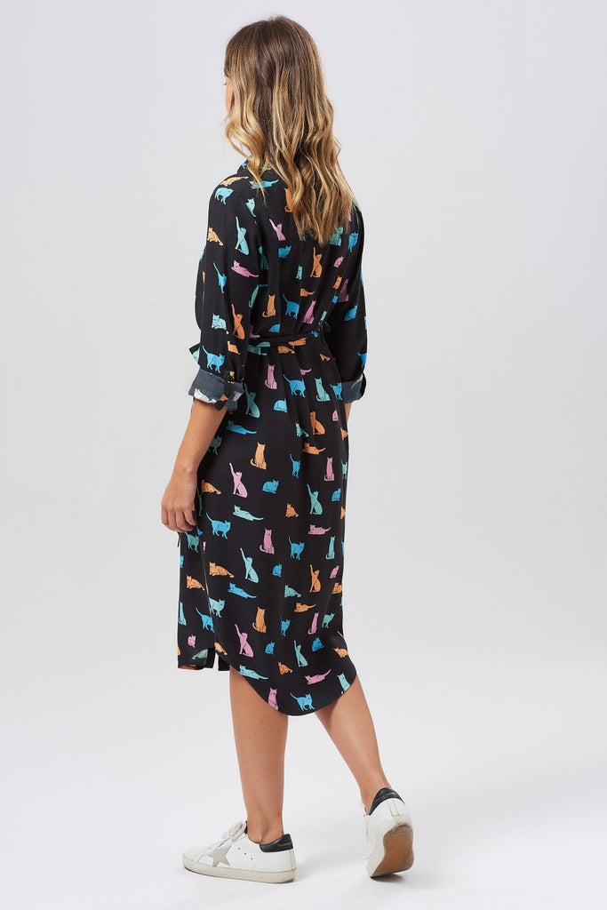 Reva Purrfect Cat Shirt Dress